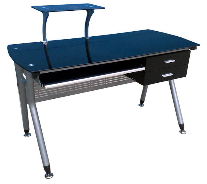 New Modern Black Glass puter Desk Home fice PC Table