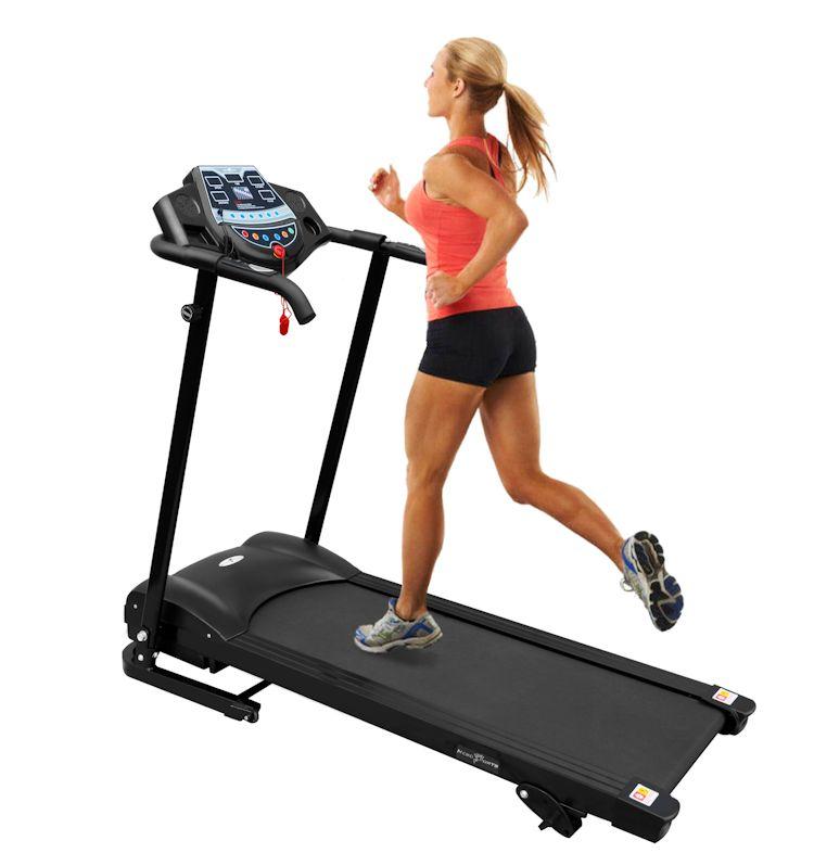 Manual Incline Folding Running Machine Motorised Treadmill