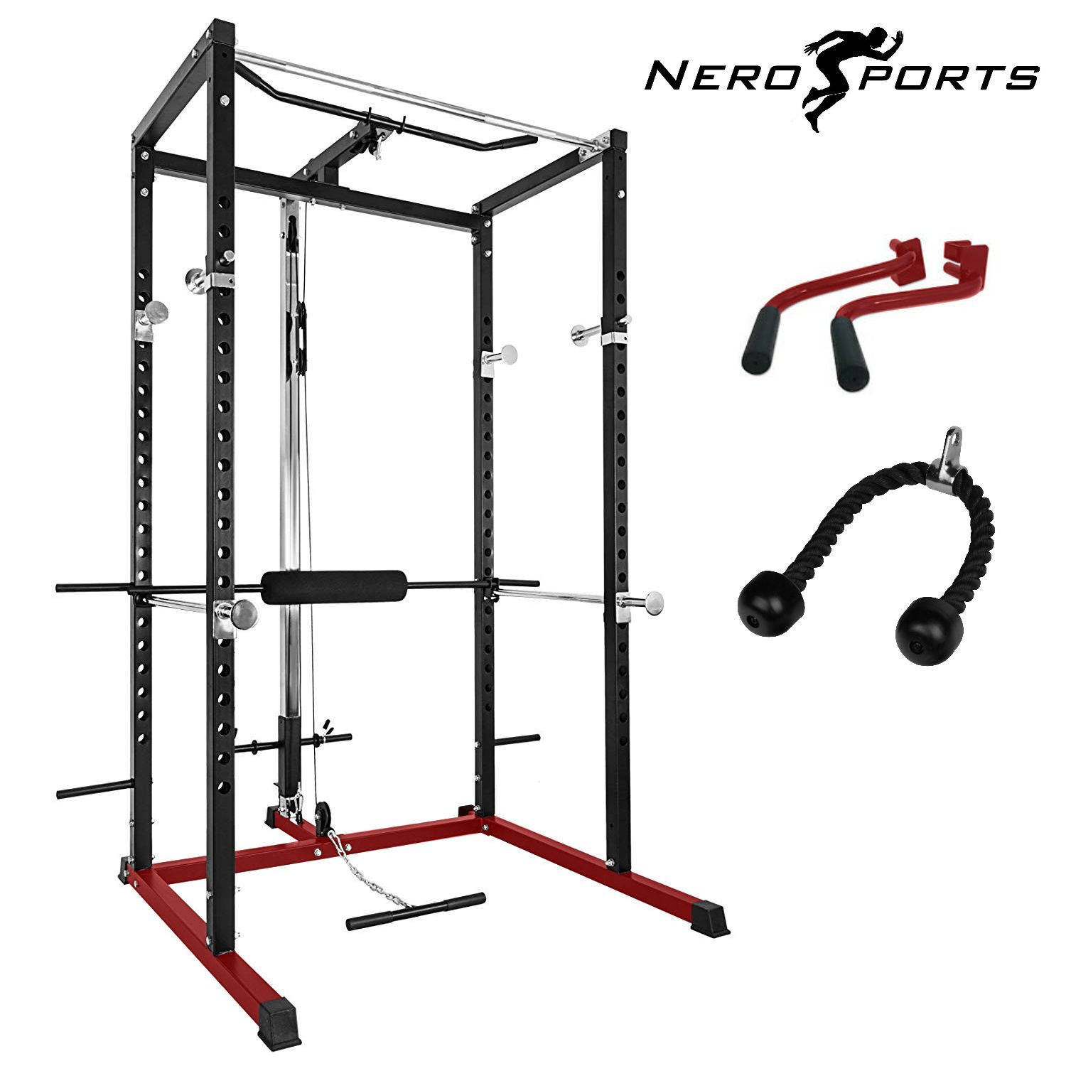 NERO™ Power Rack Squat Cage Weight Bench Combo Package ...