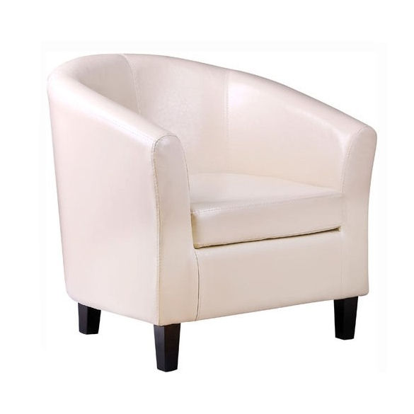 details about bonded leather tub chair armchair for dining living room