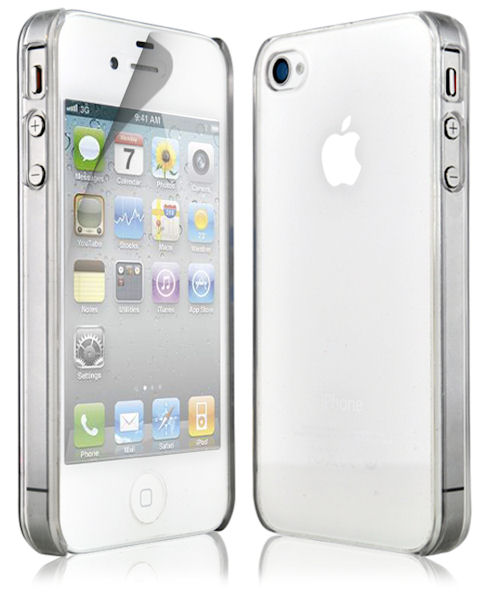 huge selection of 9aec4 7fab1 Details about NEW THIN CLEAR SILICONE CASE COVER & SCREEN PROTECTOR FOR  APPLE IPHONE 4 4G 4S